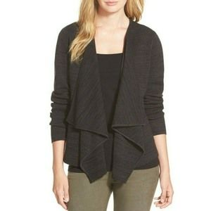 Eileen Fisher $398 Angled Silk Blend Sweater Gray